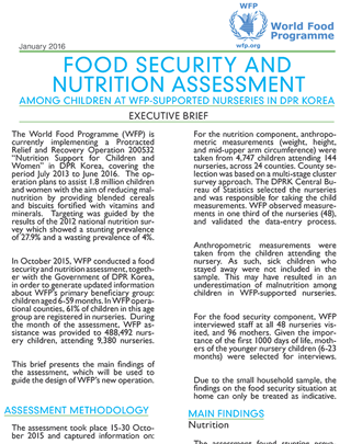 Food Security And Nutrition Assessment
