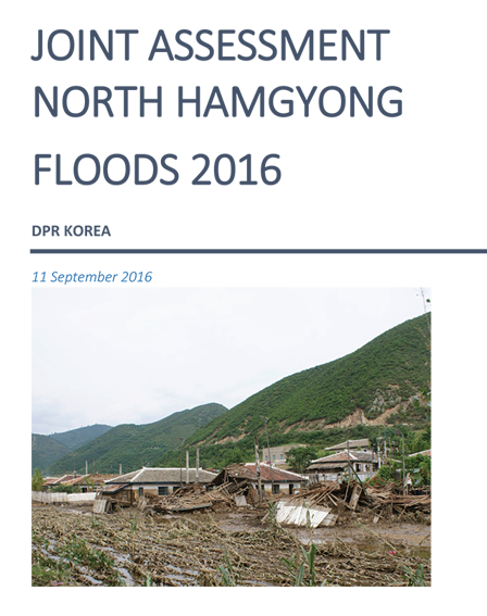 Joint Assessment North Hamgyong Floods in 2016