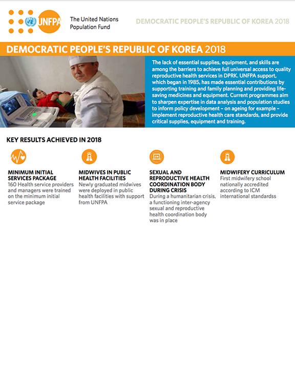UNFPA Results Report 2018 for DPR Korea