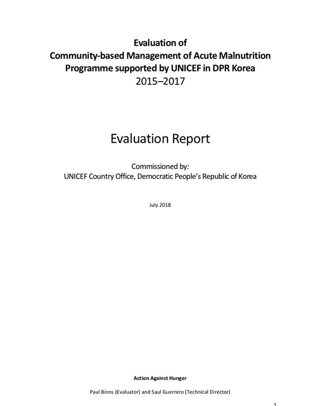 unicef-dprk-evaluation-report