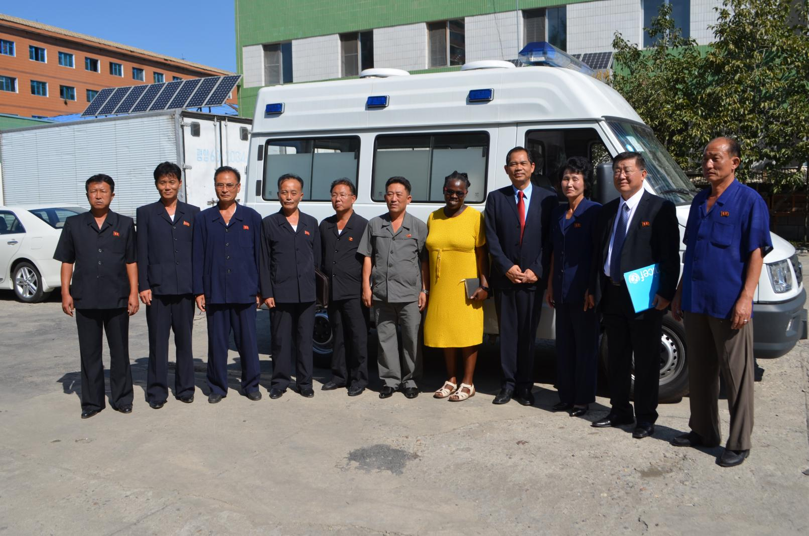 UNICEF provides nine ambulances to nine counties in DPR Korea